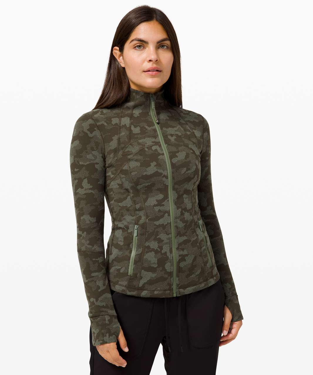 Lululemon Define Jacket - Heritage Camo Dark Olive Green Twill