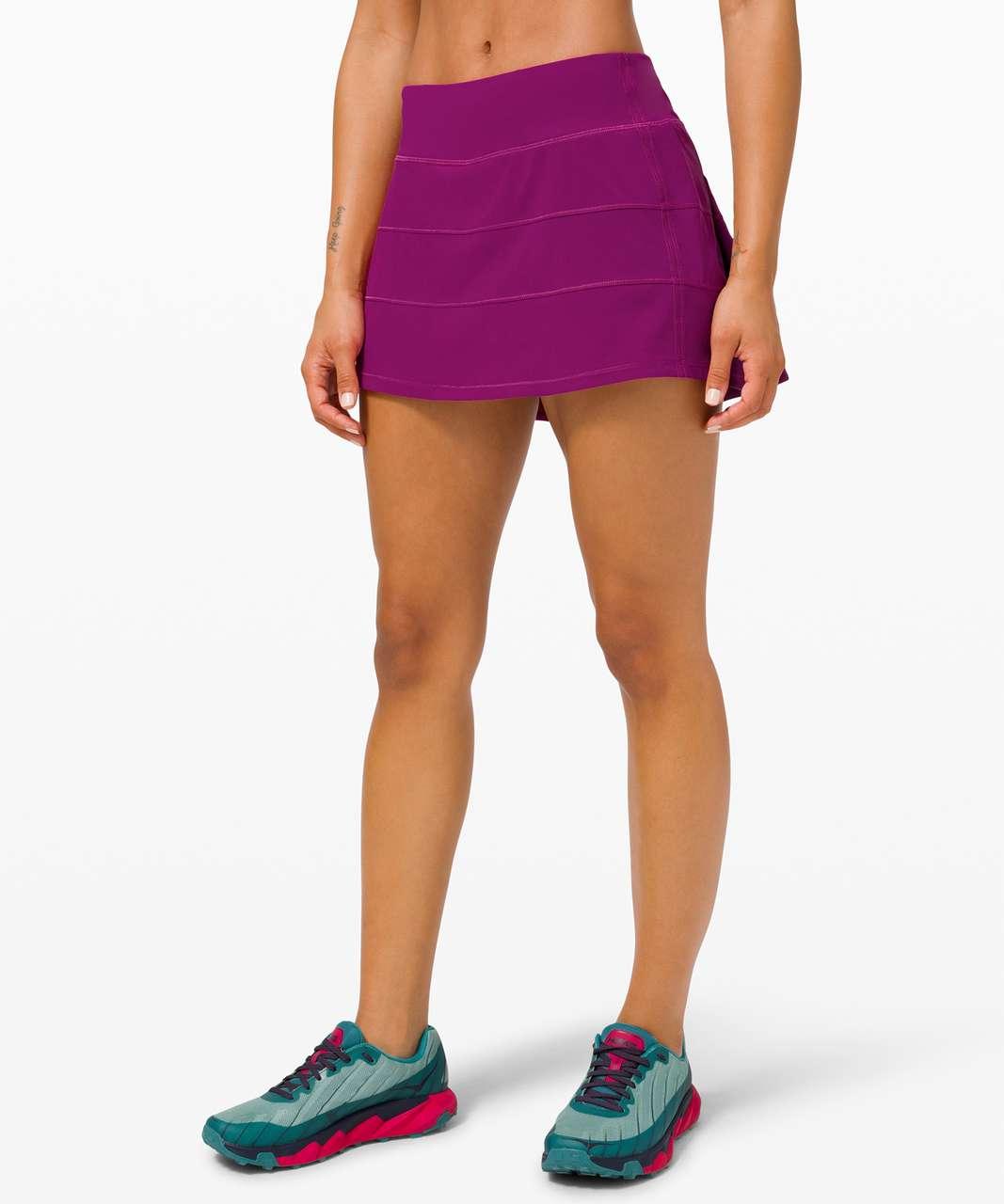 """Lululemon Pace Rival Skirt (Regular) *4-way Stretch 13"""" - Deep Fuschia"""