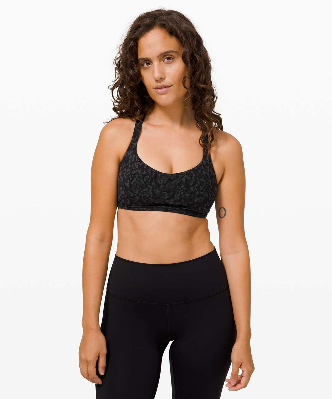 Lululemon Free To Be Bra Wild *Light Support, A/B Cup - Wild Thing Camo Deep Coal Multi