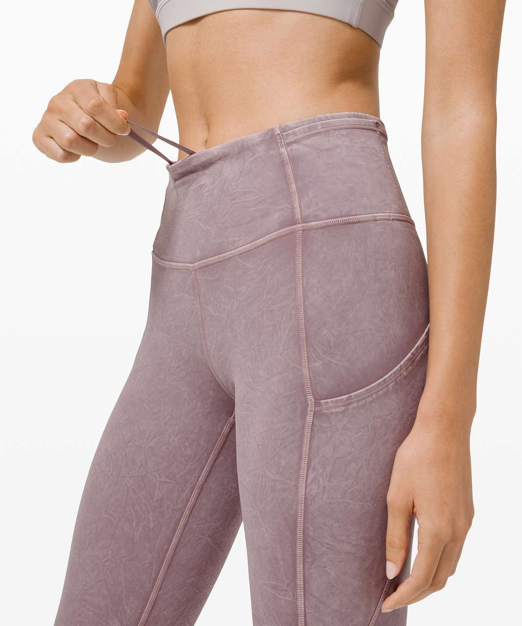 """Lululemon Fast and Free Tight II 25"""" Ice Dye *Non-Reflective - Ice Wash Violet Verbena"""