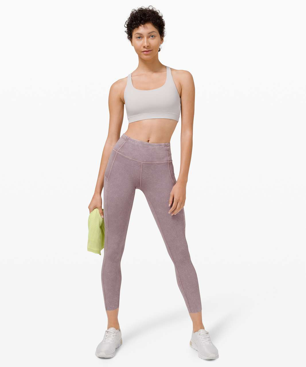 "Lululemon Fast and Free Tight II 25"" Ice Dye *Non-Reflective - Ice Wash Violet Verbena"