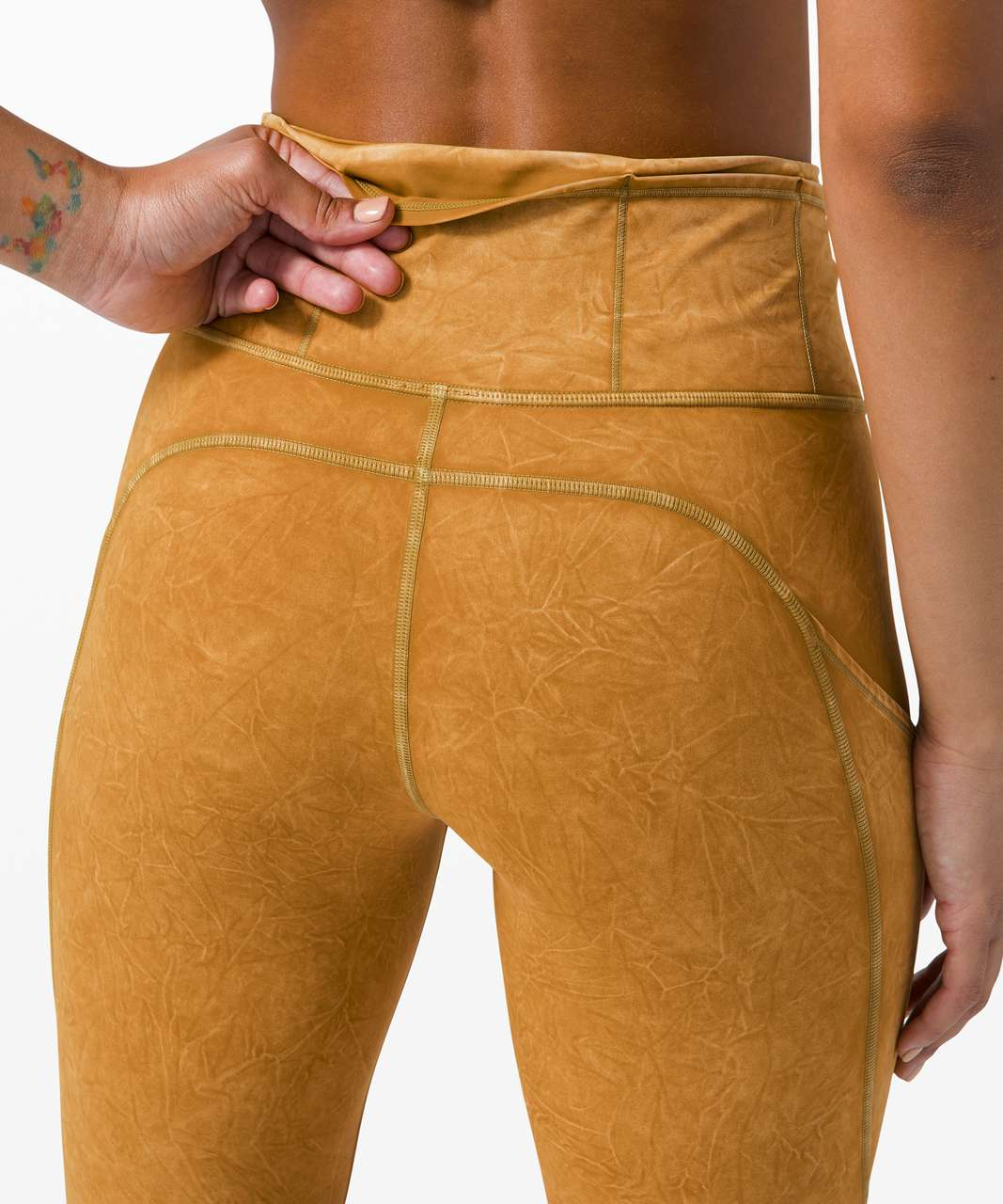 """Lululemon Fast and Free Tight II 25"""" Ice Dye *Non-Reflective - Ice Wash Spiced Bronze"""