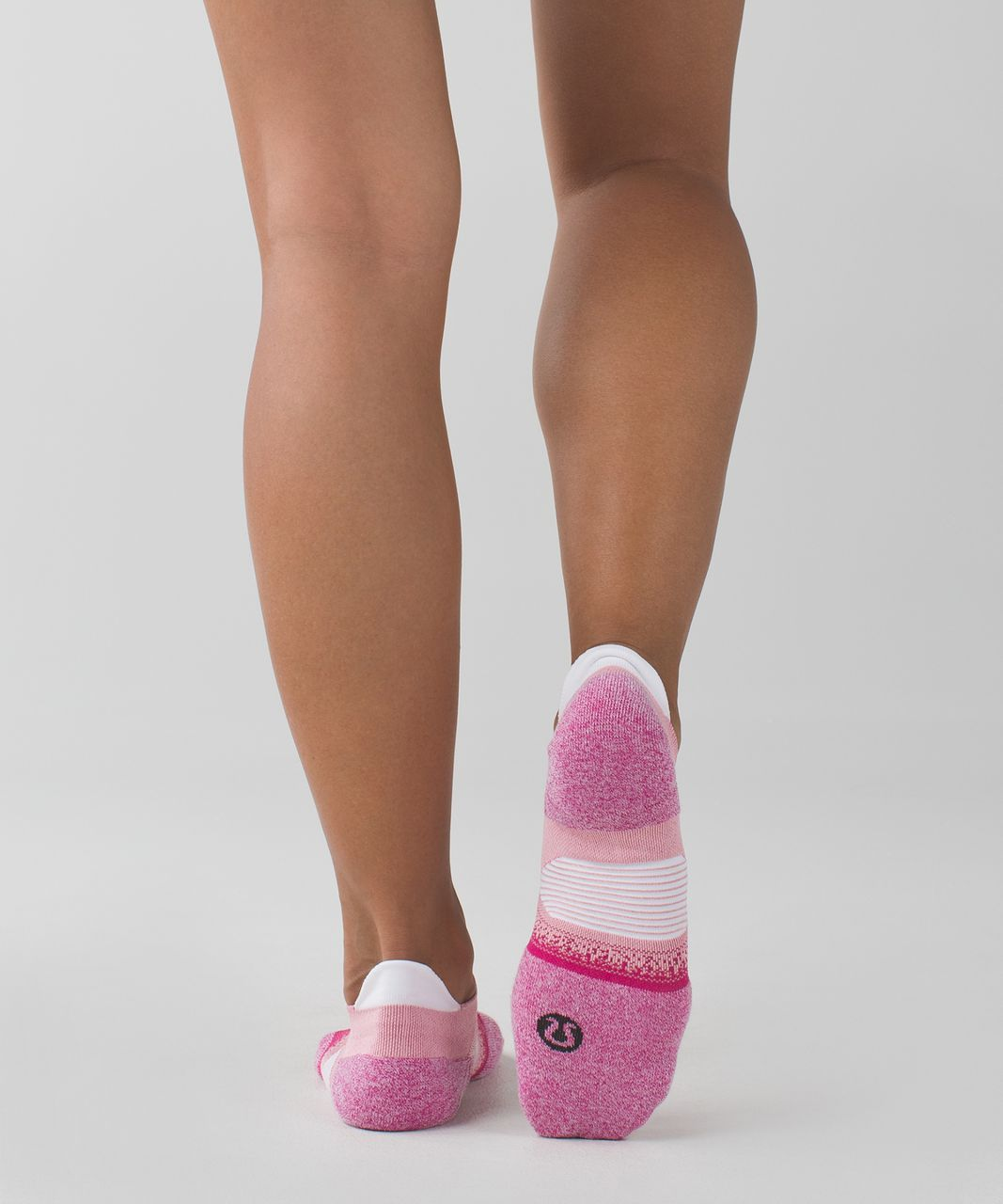 Lululemon Speed Sock *Silver - Jewelled Magenta / Bleached Coral