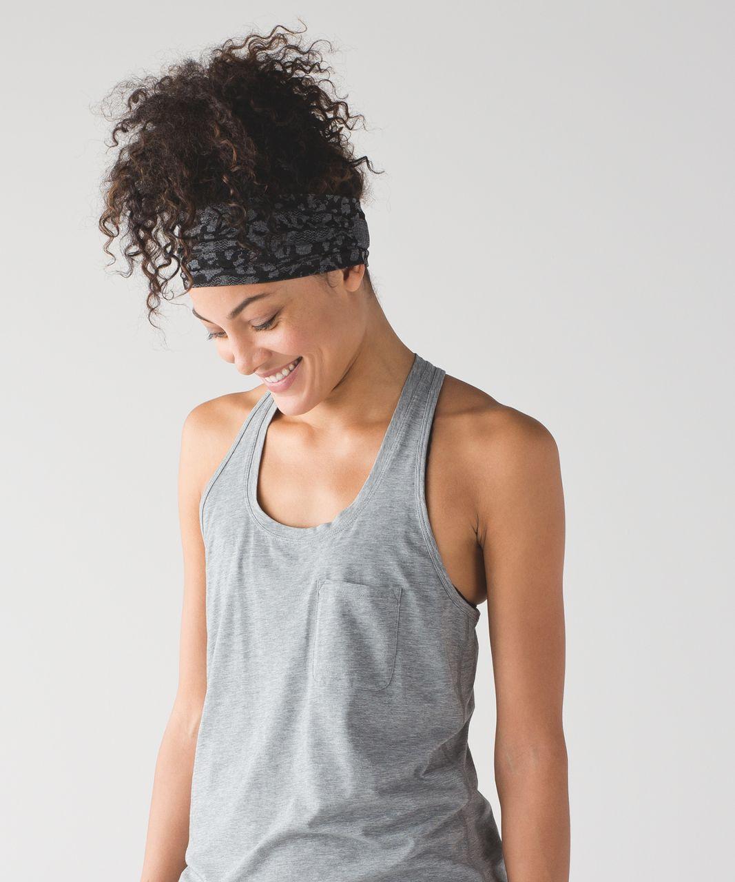 Lululemon Bangs Back Headwrap - Heathered Black / Black