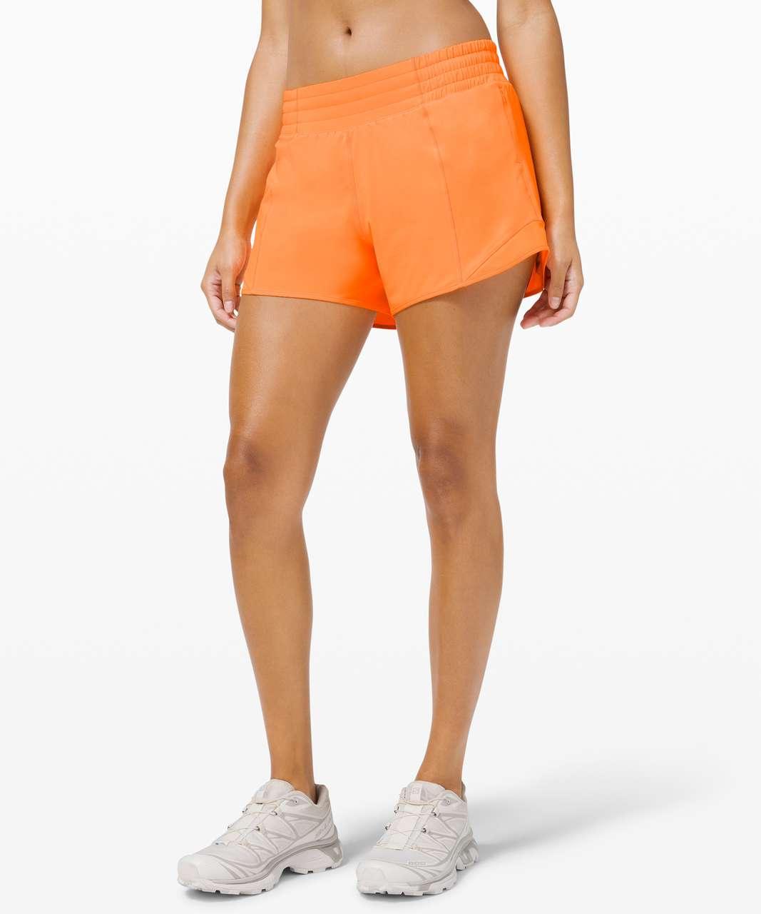 "Lululemon Hotty Hot Short *High-Rise Long 4"" - Highlight Orange"