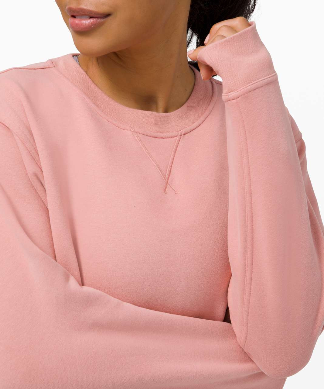 Lululemon All Yours Crew *Fleece - Pink Pastel