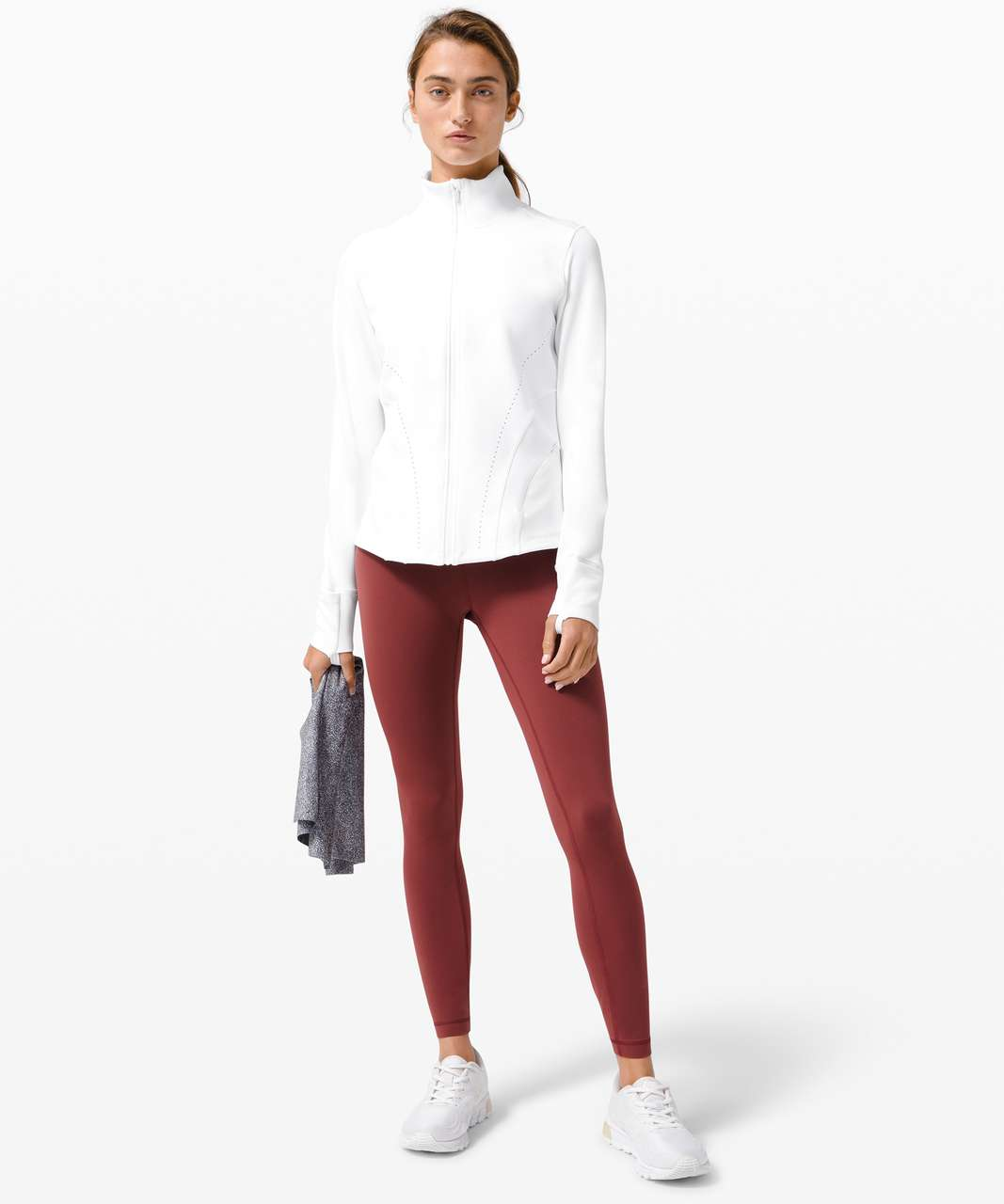 Lululemon Flash Forward Full Zip - White