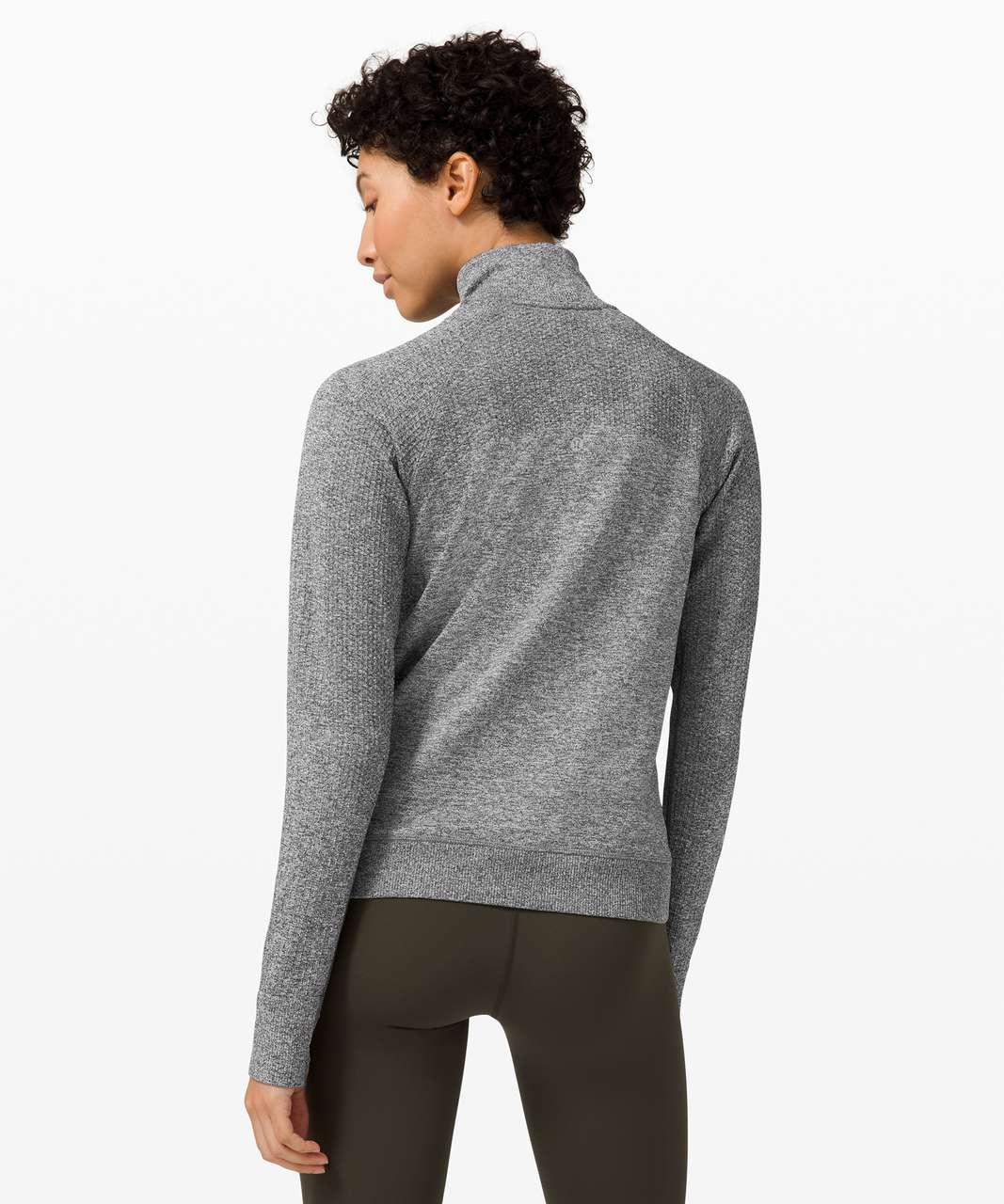 Lululemon Engineered Warmth Half Zip - Graphite Grey / White