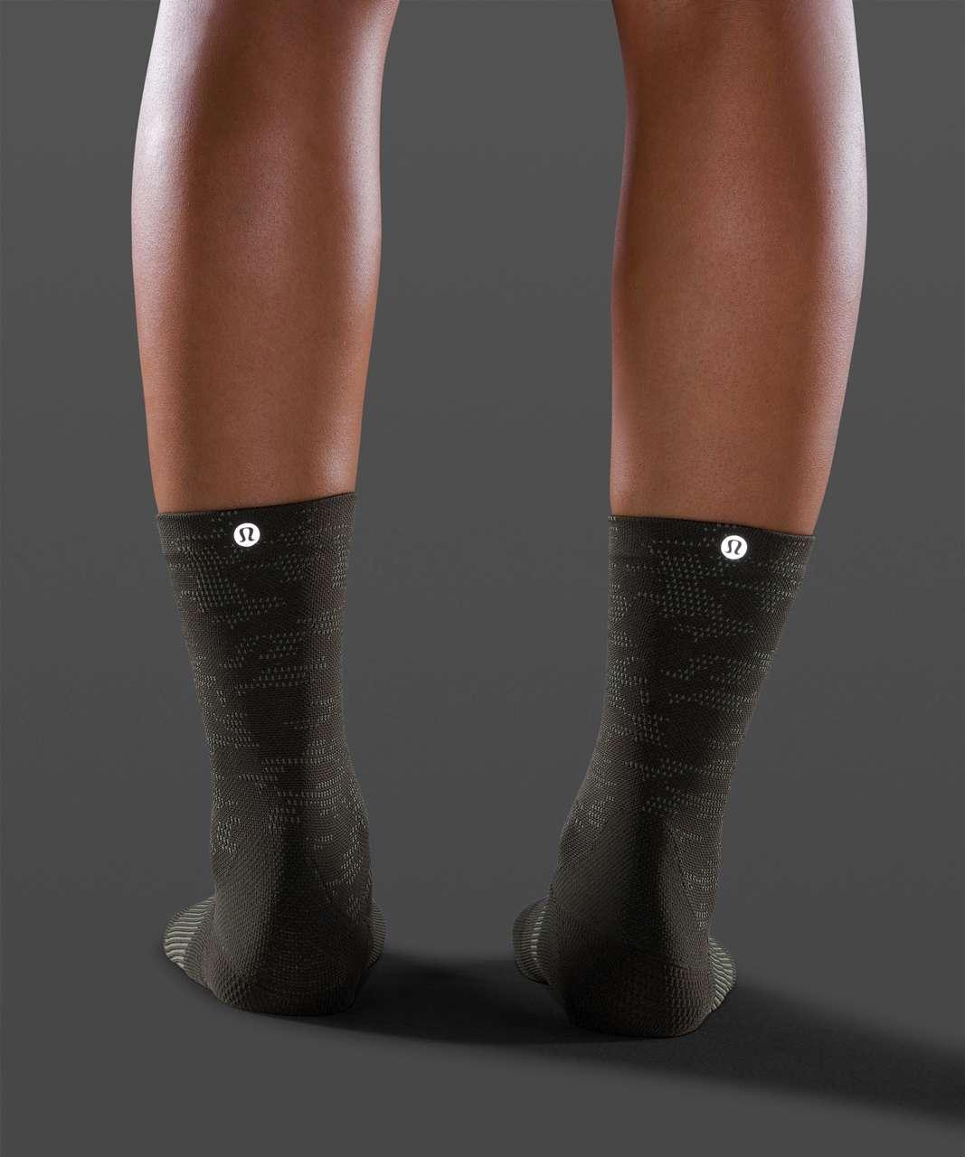 Lululemon Power Stride Crew Sock *Camo - Dark Olive