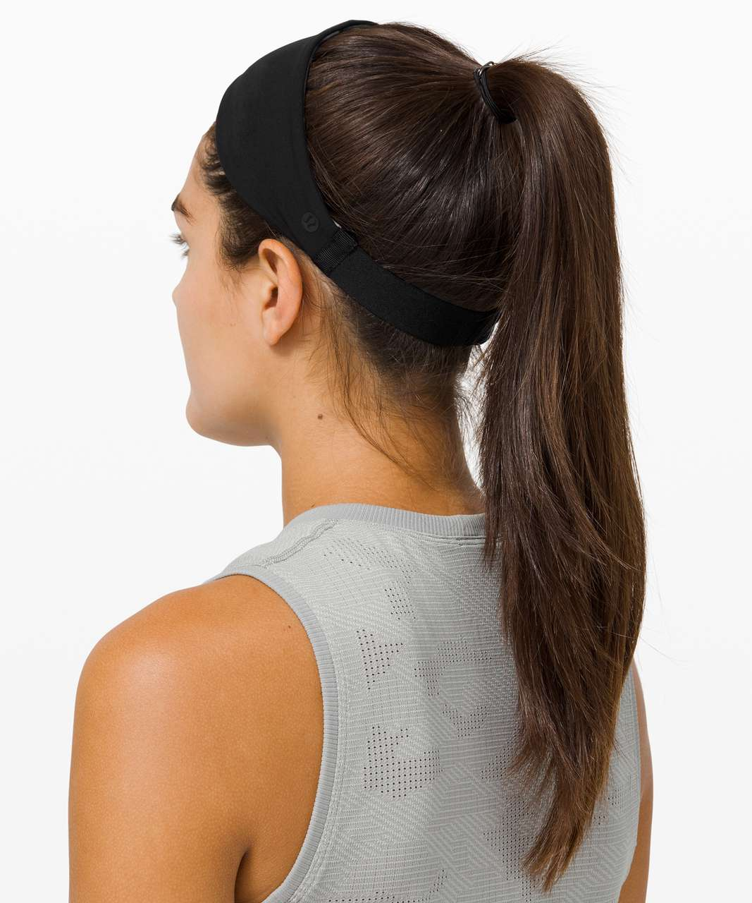 Lululemon Fringe Fighter Headband - Diamond Dye Chrome Violet Verbena Graphite Grey / Violet Verbena