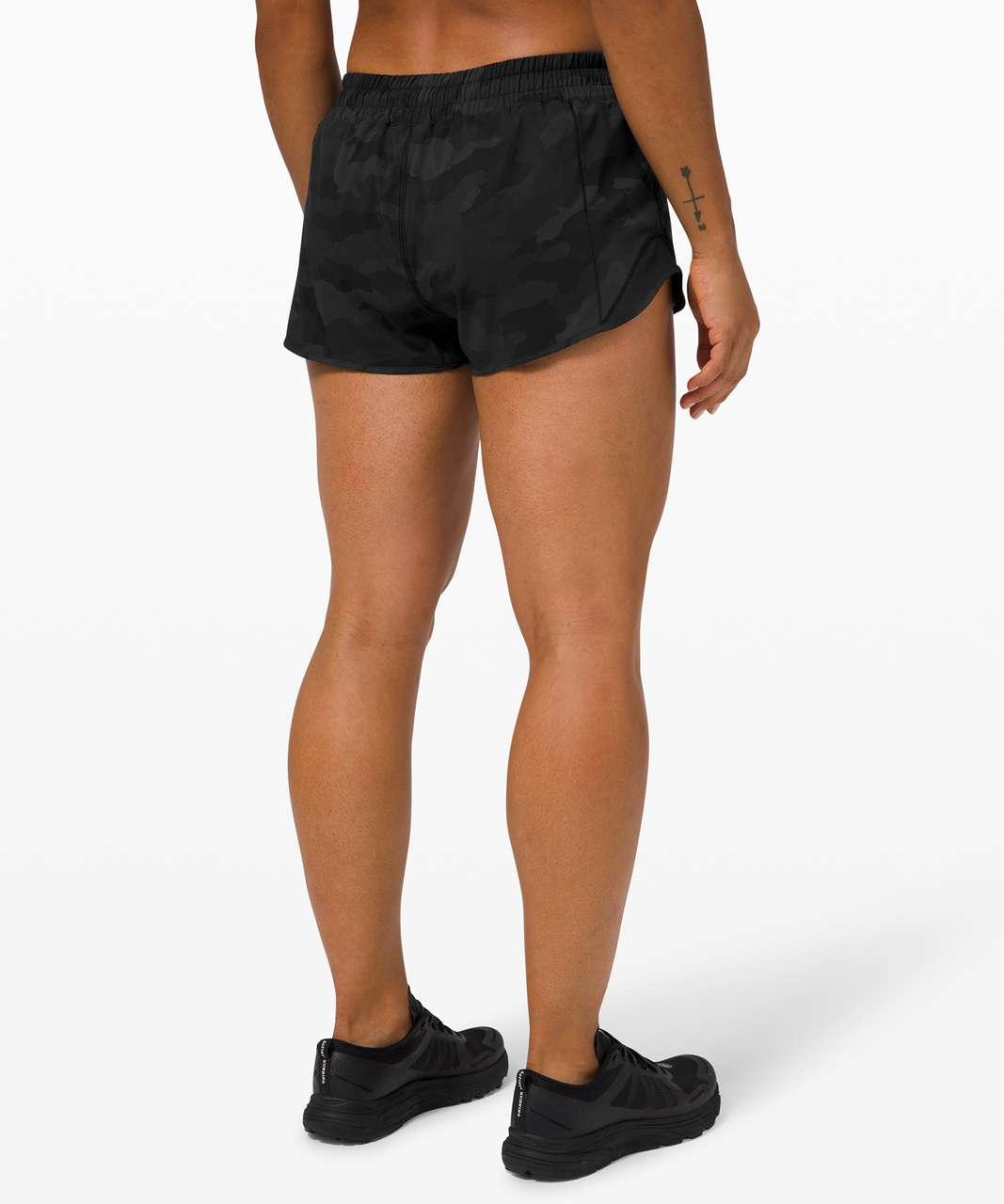 """Lululemon Hotty Hot Short II *2.5"""" - Heritage 365 Camo Deep Coal Multi / Black"""