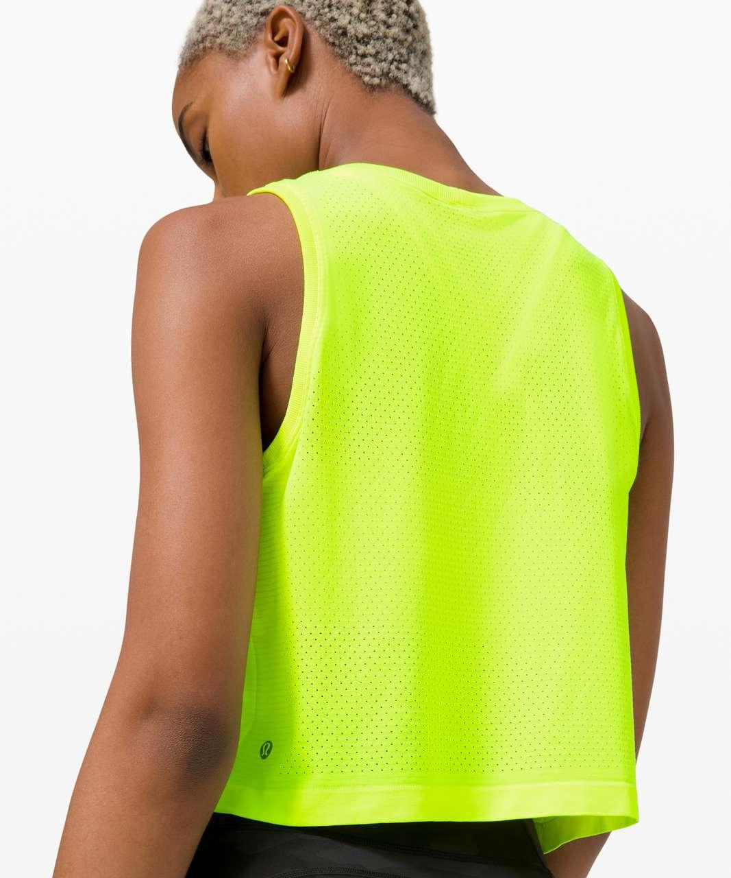 Lululemon Swiftly Breathe Crop Tank - Yellow Highlight / Yellow Highlight