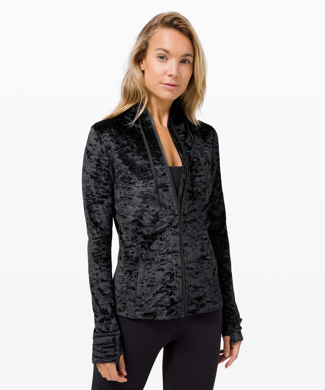 Lululemon Hooded Define Jacket *Crushed Velvet - Black