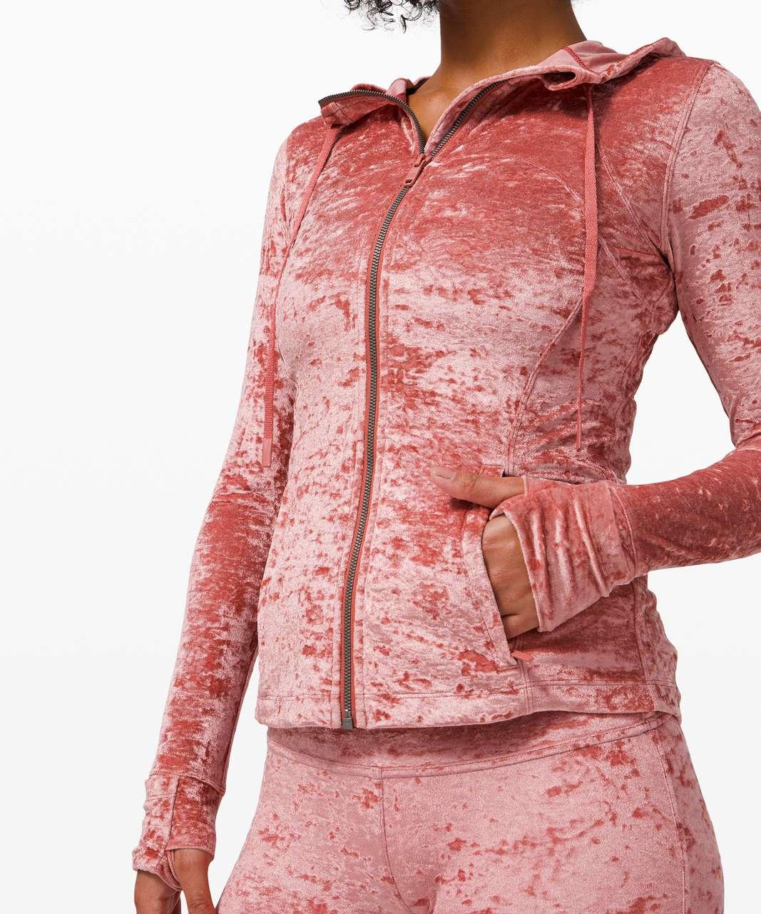Lululemon Hooded Define Jacket *Crushed Velvet - Soft Cranberry