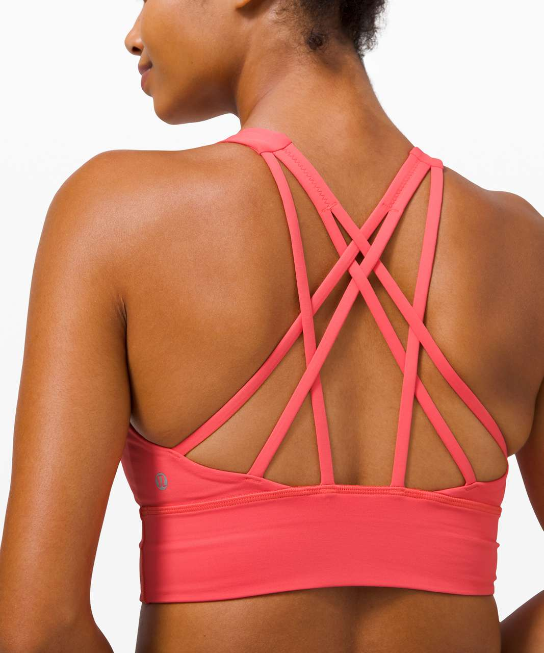 Lululemon Free To Be Serene Bra Long Line *Light Support, C/D Cup - Watermelon Red