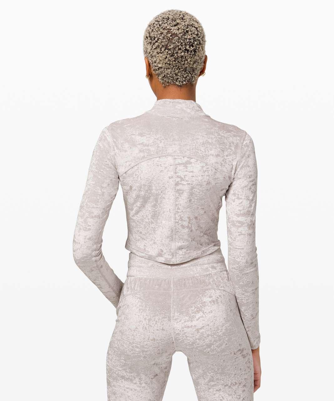 Lululemon All Aligned Mock Neck Long Sleeve *Crushed Velvet - Chrome
