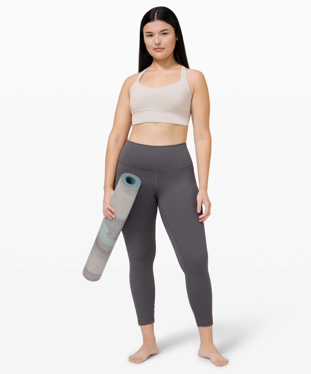 Lululemon Free to Be Bra Wild Long Line *Light Support, A/B Cup - Chrome
