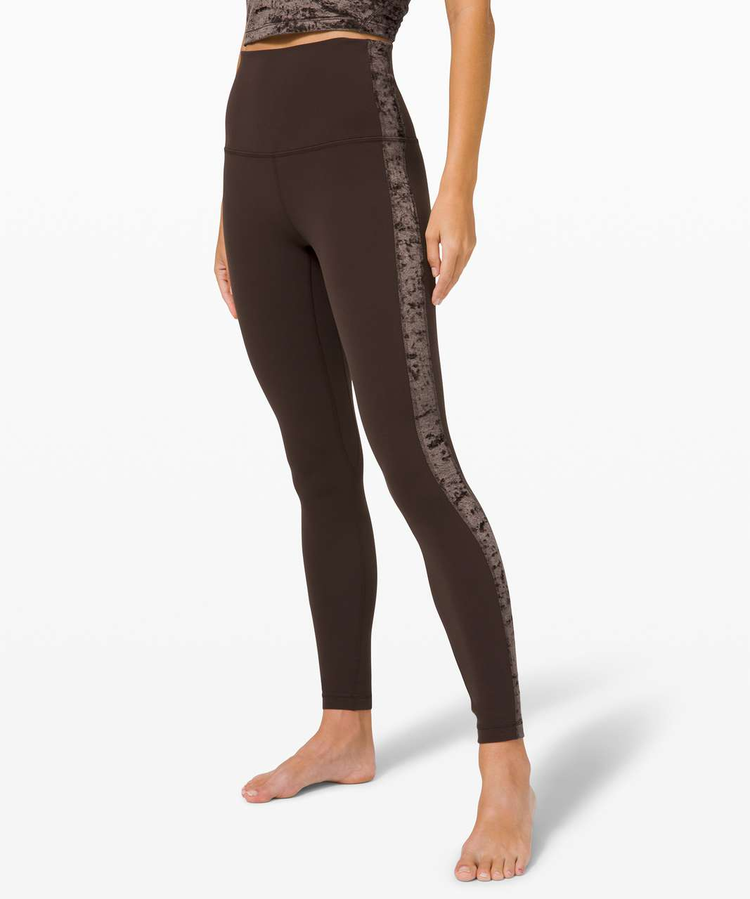 "Lululemon Align Super High-Rise Pant 28"" *Crushed Velvet - French Press"