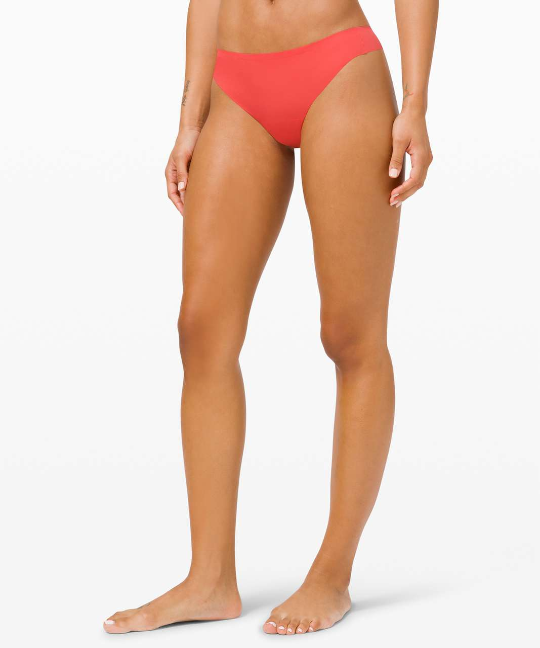 Lululemon Smooth Seamless Thong *3 Pack - Black / Watermelon Red / Misty Shell