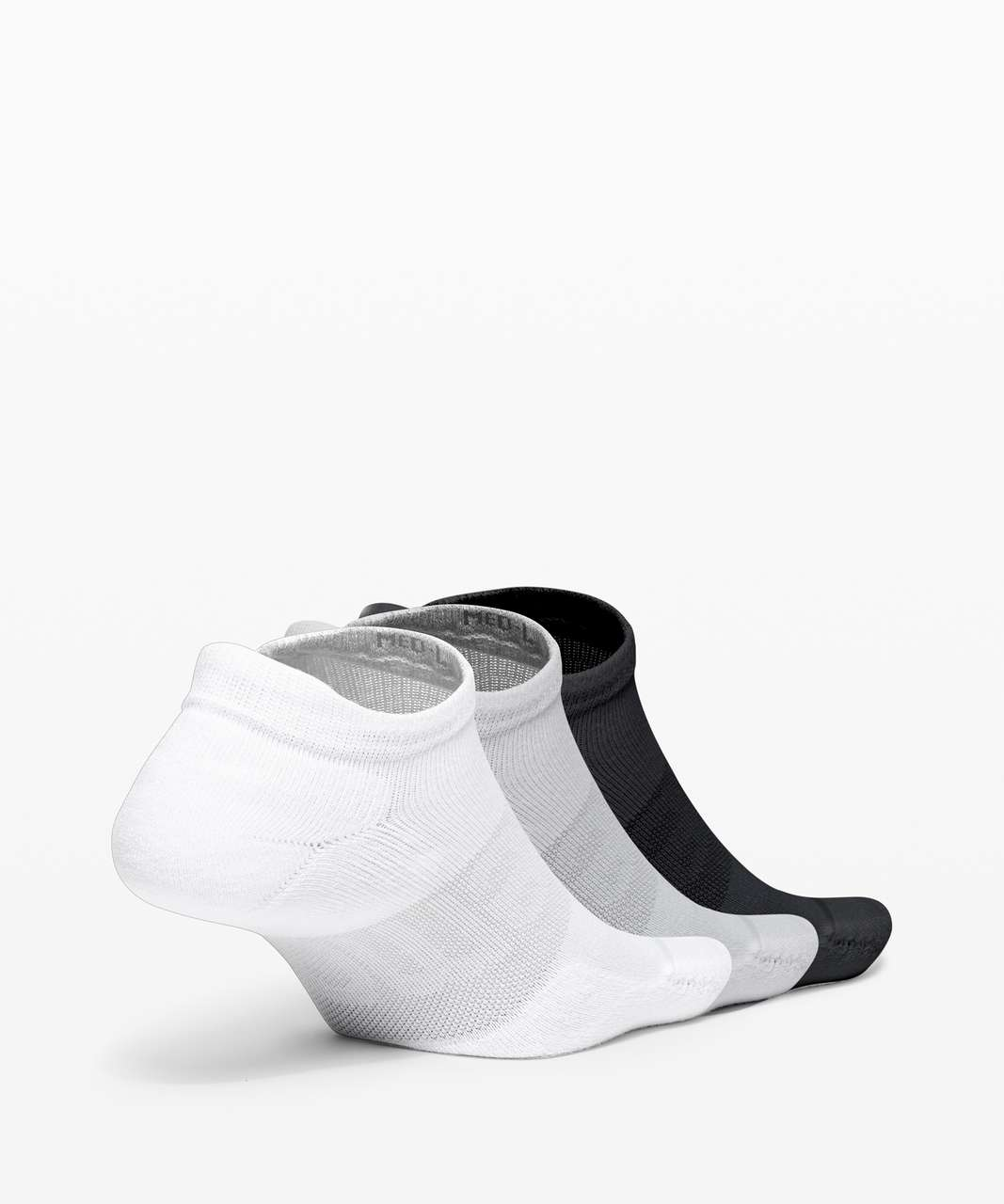 Lululemon Daily Stride Low Ankle Sock *3 Pack - White / Heather Grey / Black