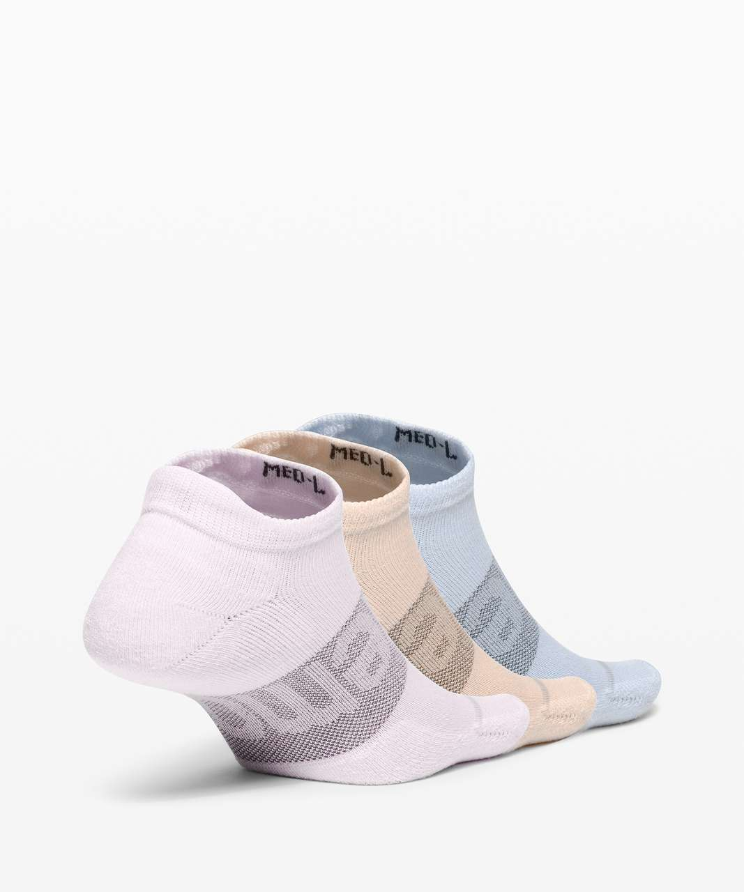 Lululemon Daily Stride Low Ankle Sock *3 Pack - Feather Pink / Chambray / Gold Buff