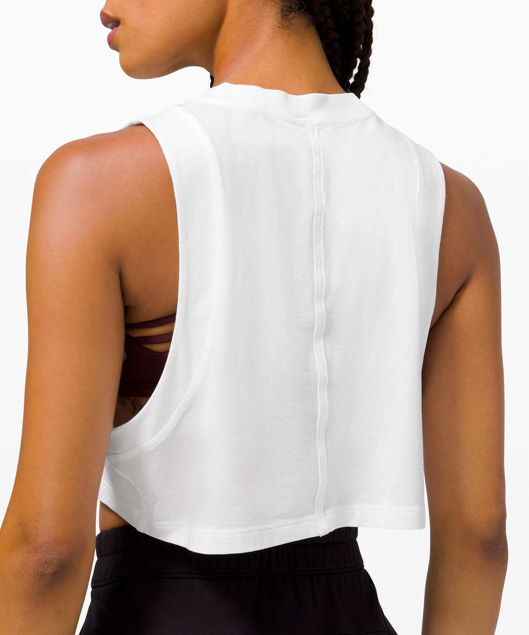 Lululemon All Yours Crop Tank - White
