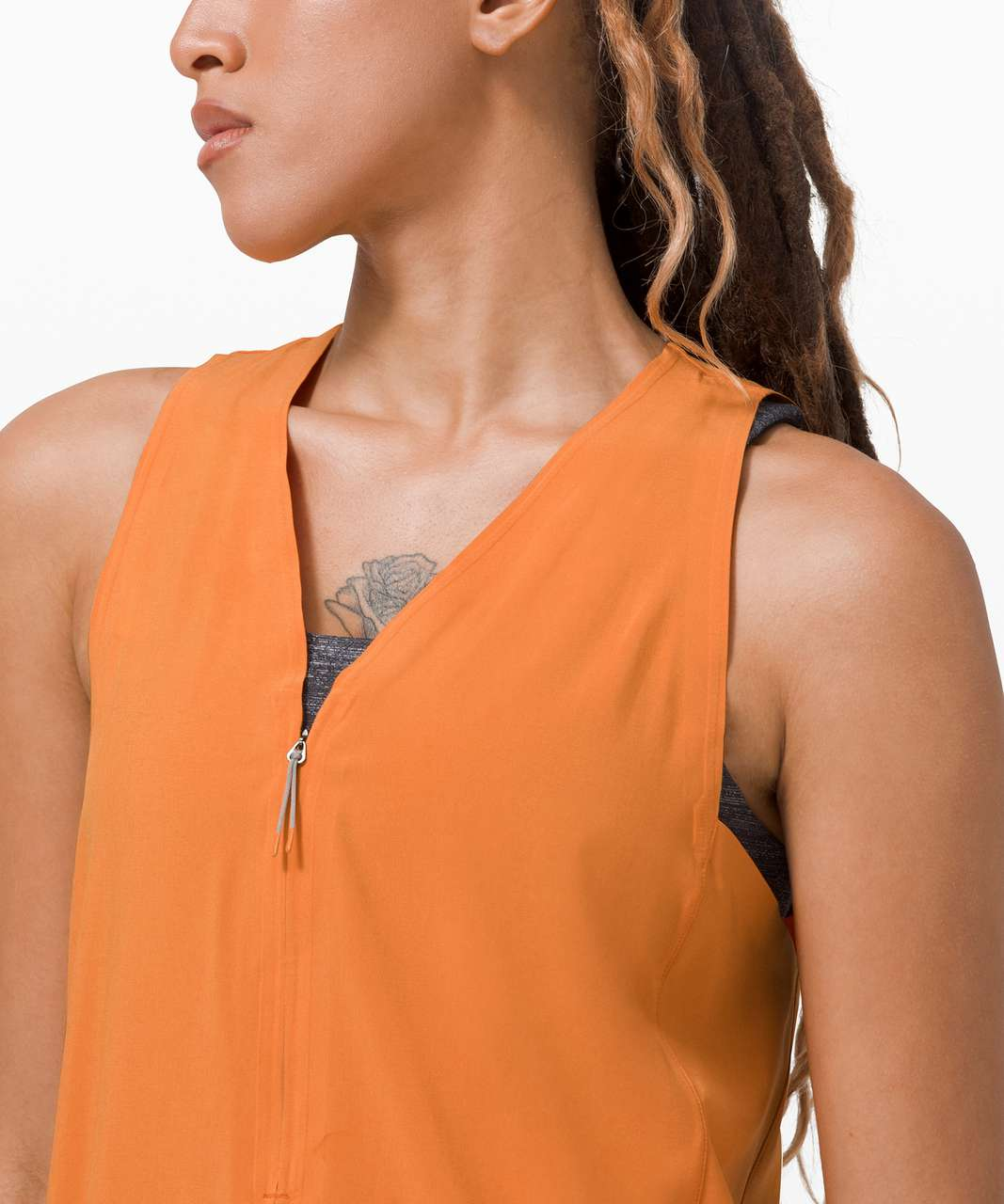 Lululemon Sarala Dress *lululemon lab - True Tangerine