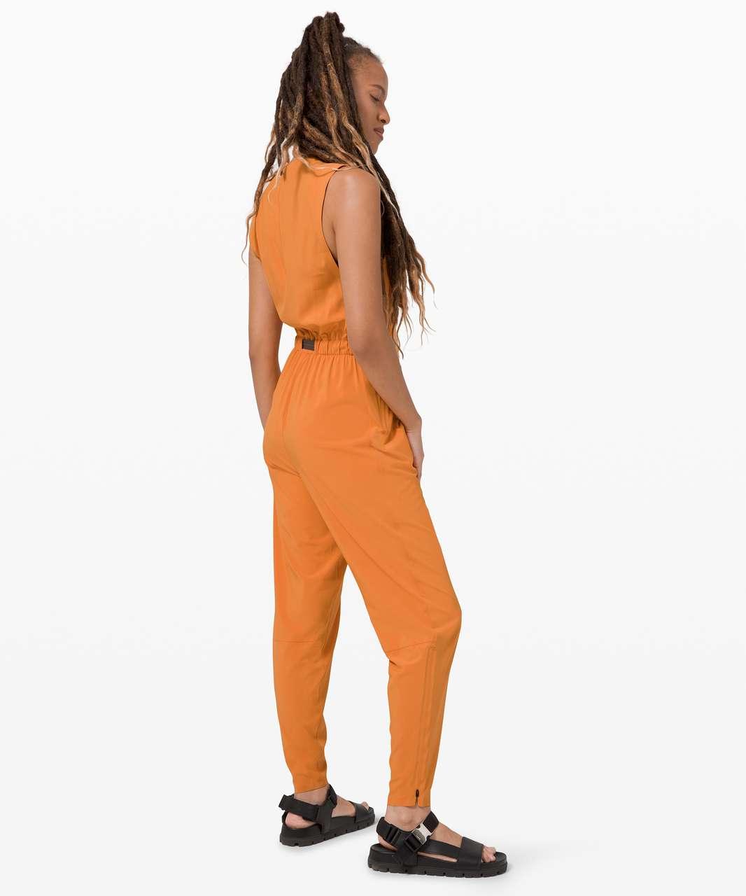 Lululemon Sarala Jumpsuit *lululemon lab - True Tangerine