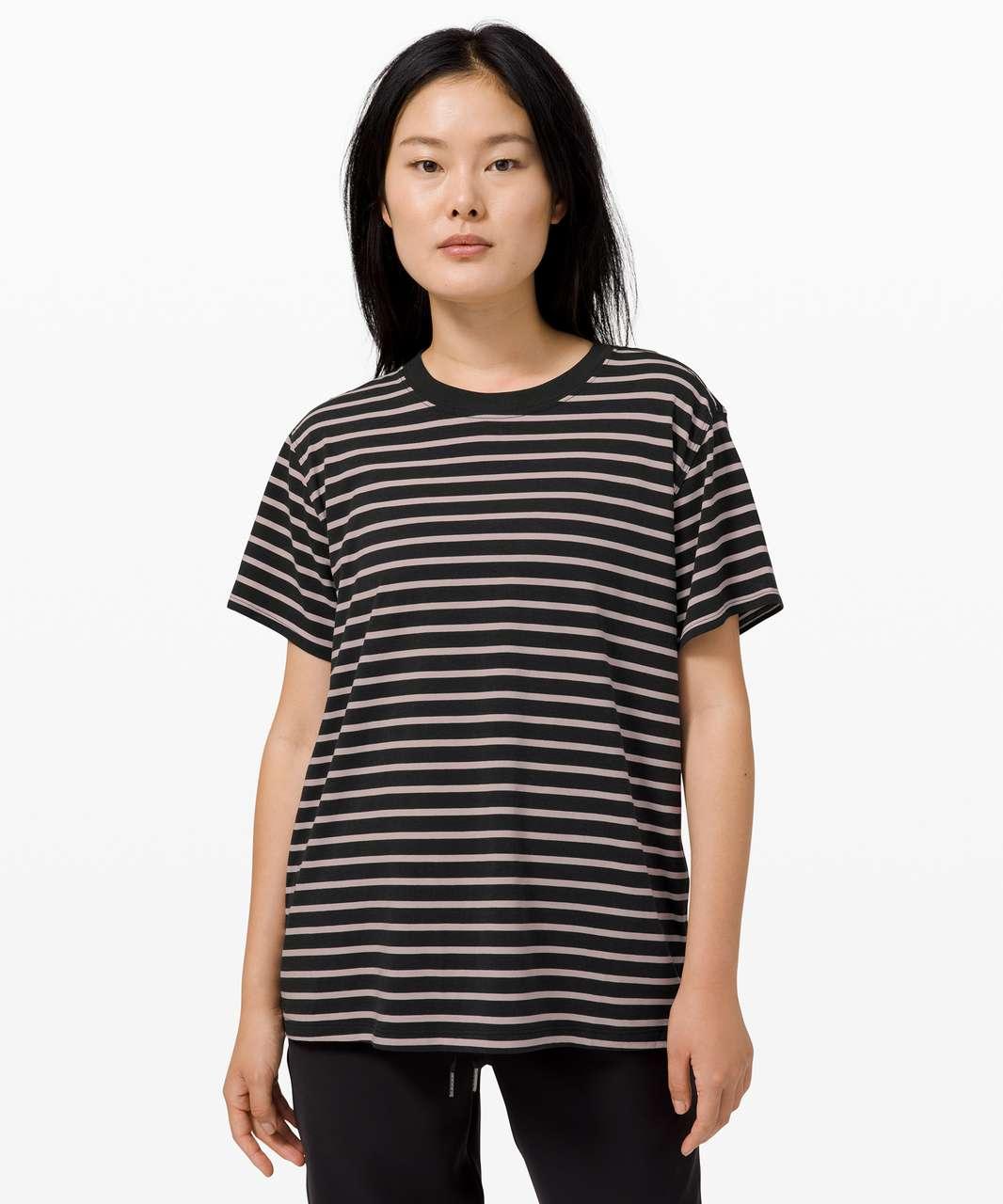 Lululemon All Yours Tee - Yachtie Stripe Black Chrome