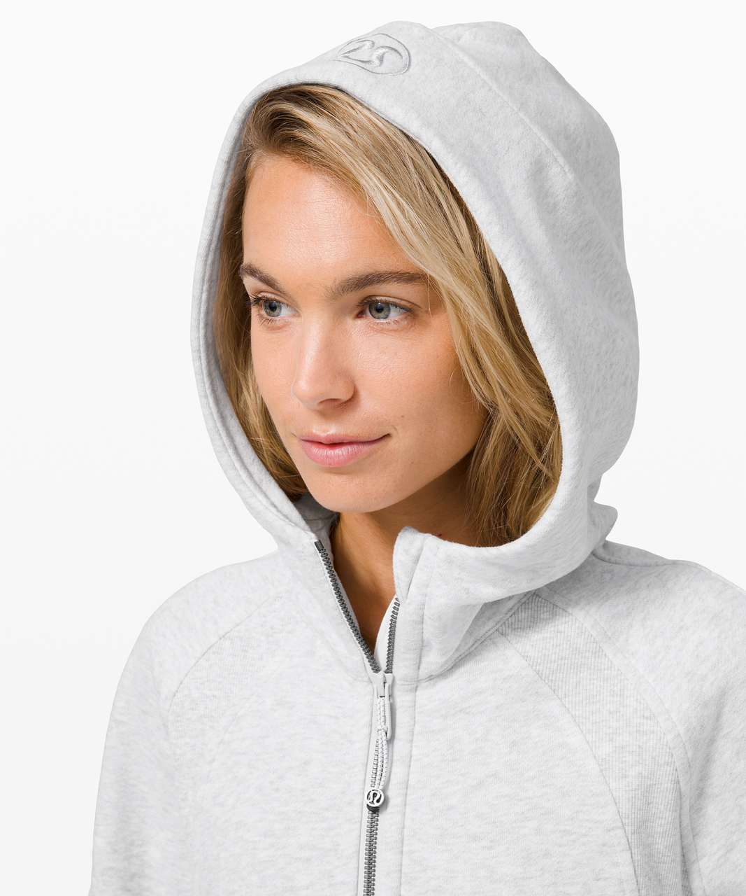 Lululemon Scuba Oversized 1/2 Zip Hoodie - Heathered Core Ultra Light Grey