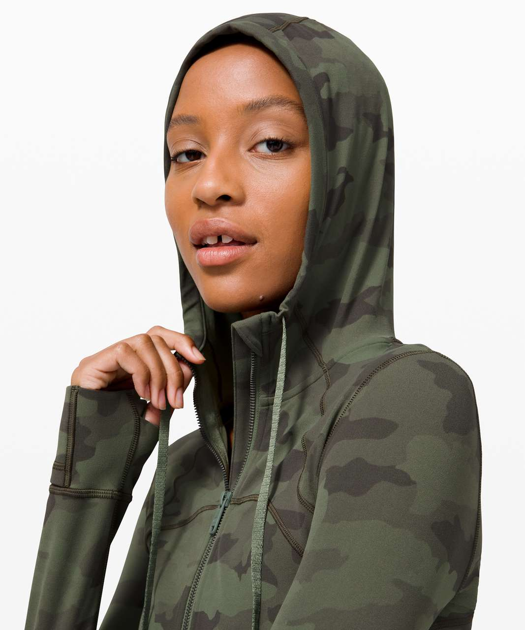 Lululemon Hooded Define Jacket *Nulu - Heritage 365 Camo Green Twill Multi