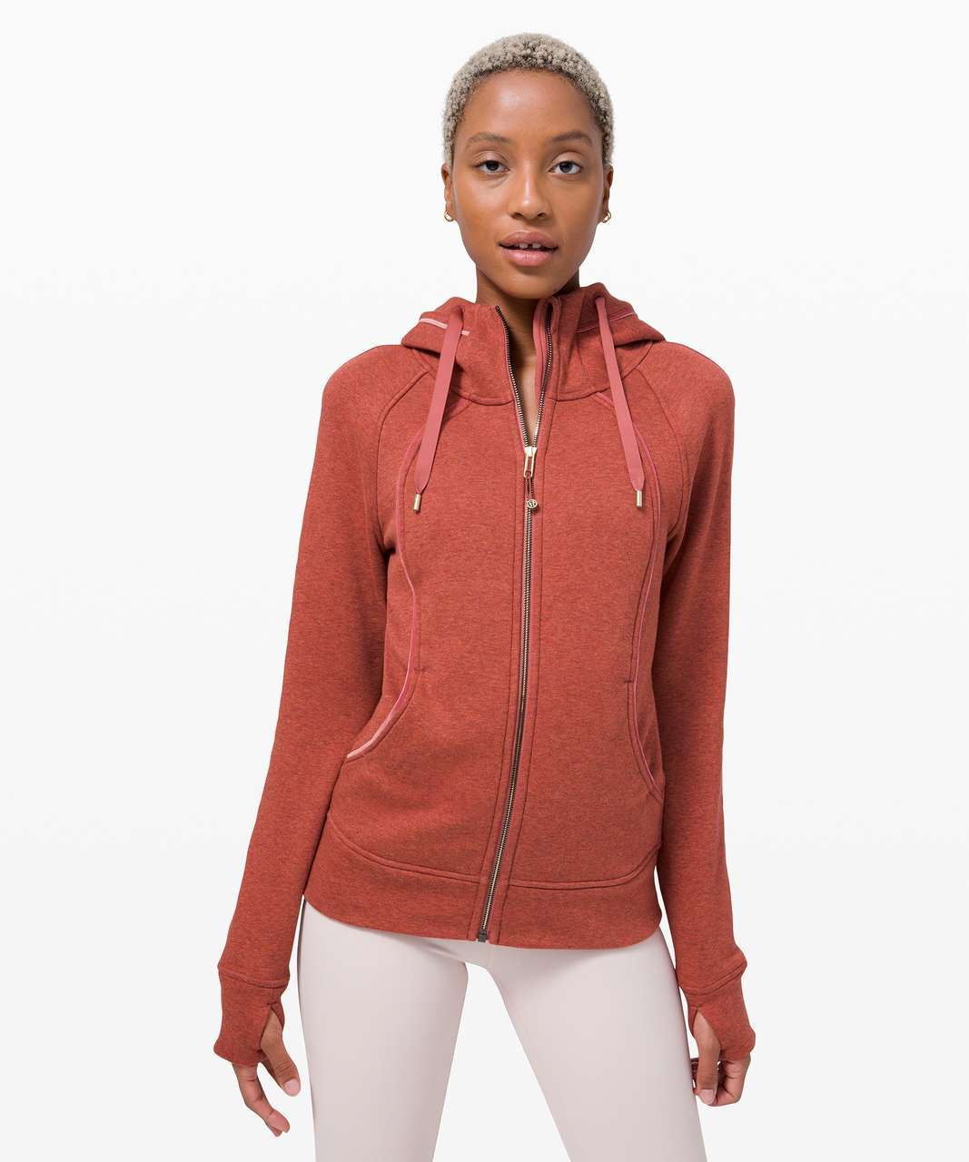 Lululemon Scuba Hoodie *Plush - Heathered Soft Cranberry / Soft Cranberry