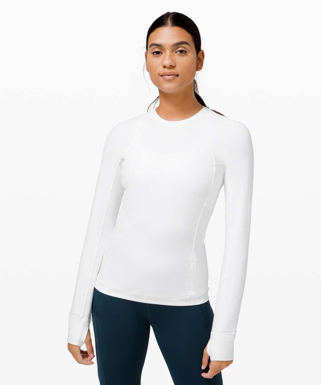 Lululemon Runderful Long Sleeve *Brushed - White
