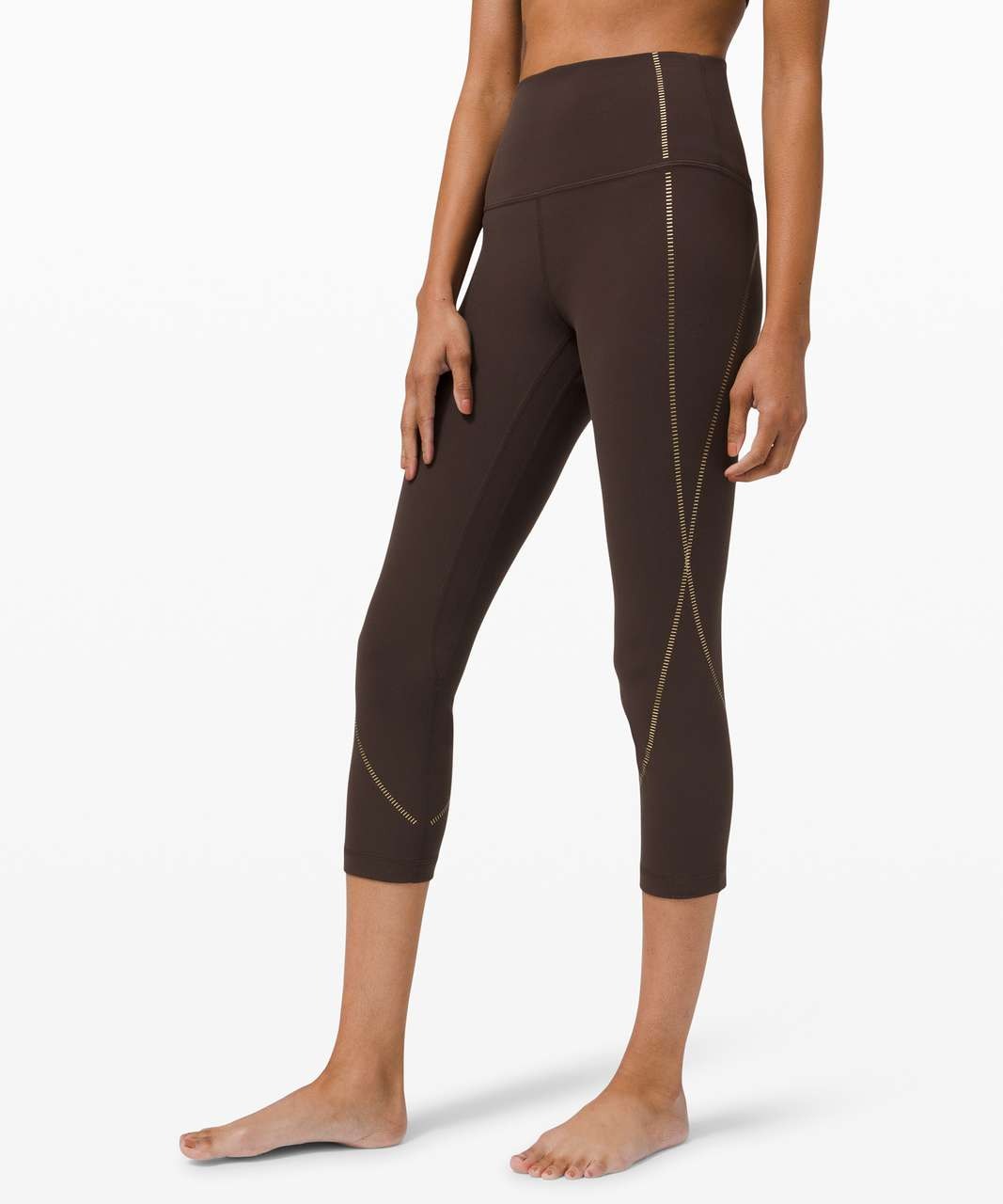 "Lululemon Align High-Rise Crop 21"" *Gold - French Press"