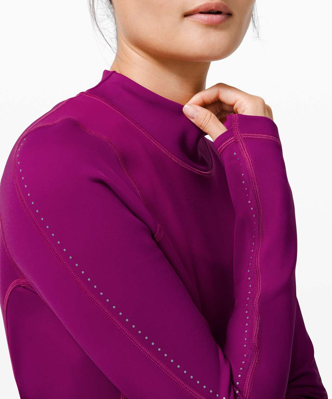 Lululemon Chase the Chill Long Sleeve - Deep Fuschia