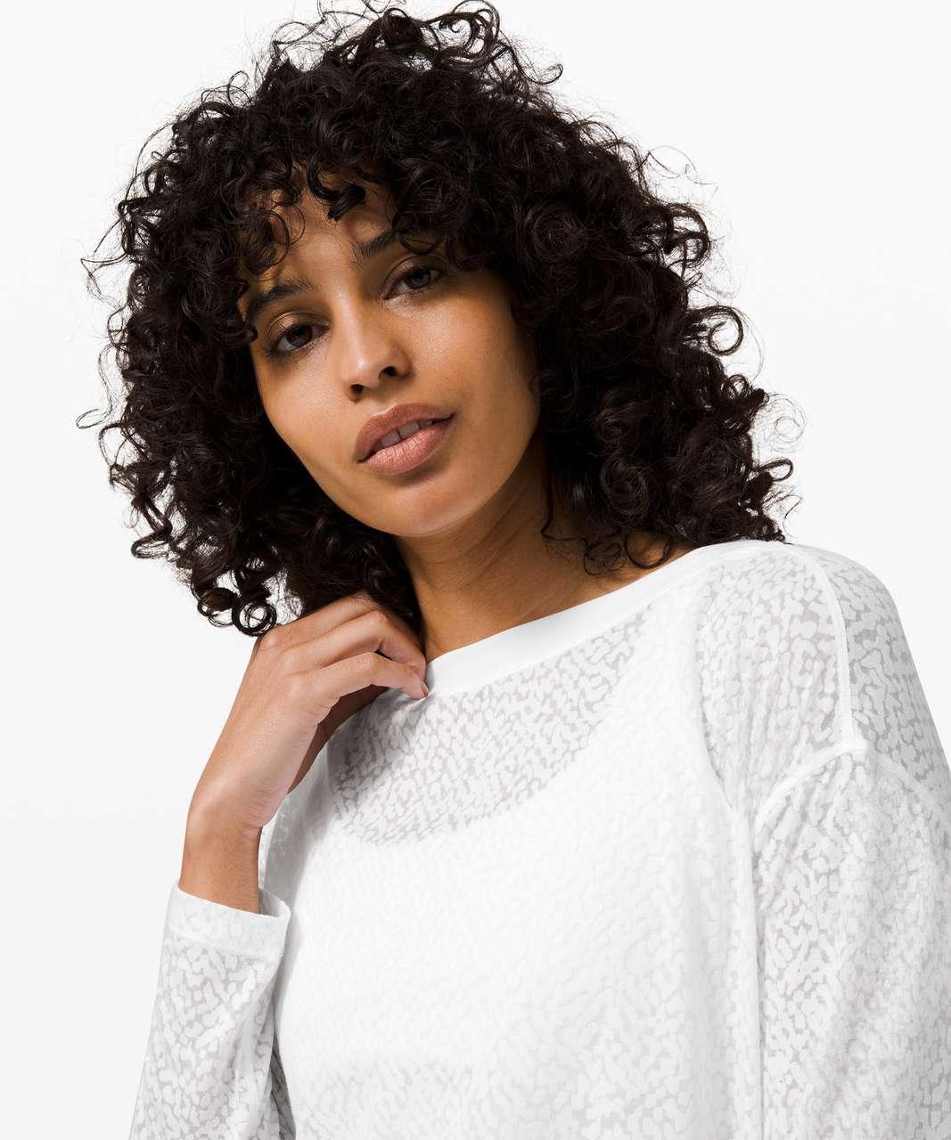 Lululemon Back In Action Long Sleeve *Veil - White