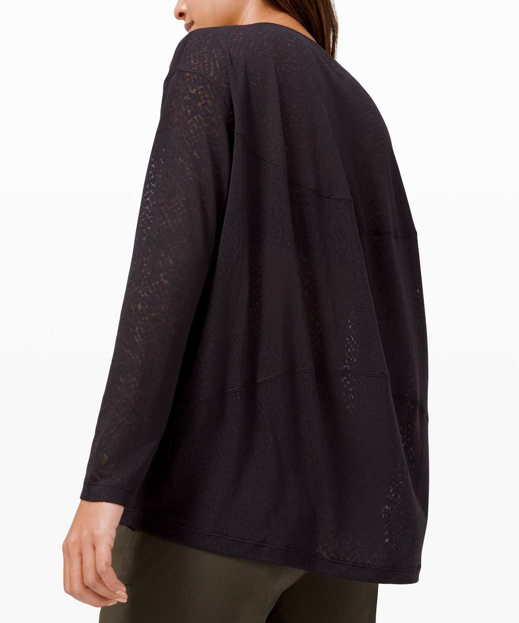 Lululemon Back In Action Long Sleeve *Veil - Black