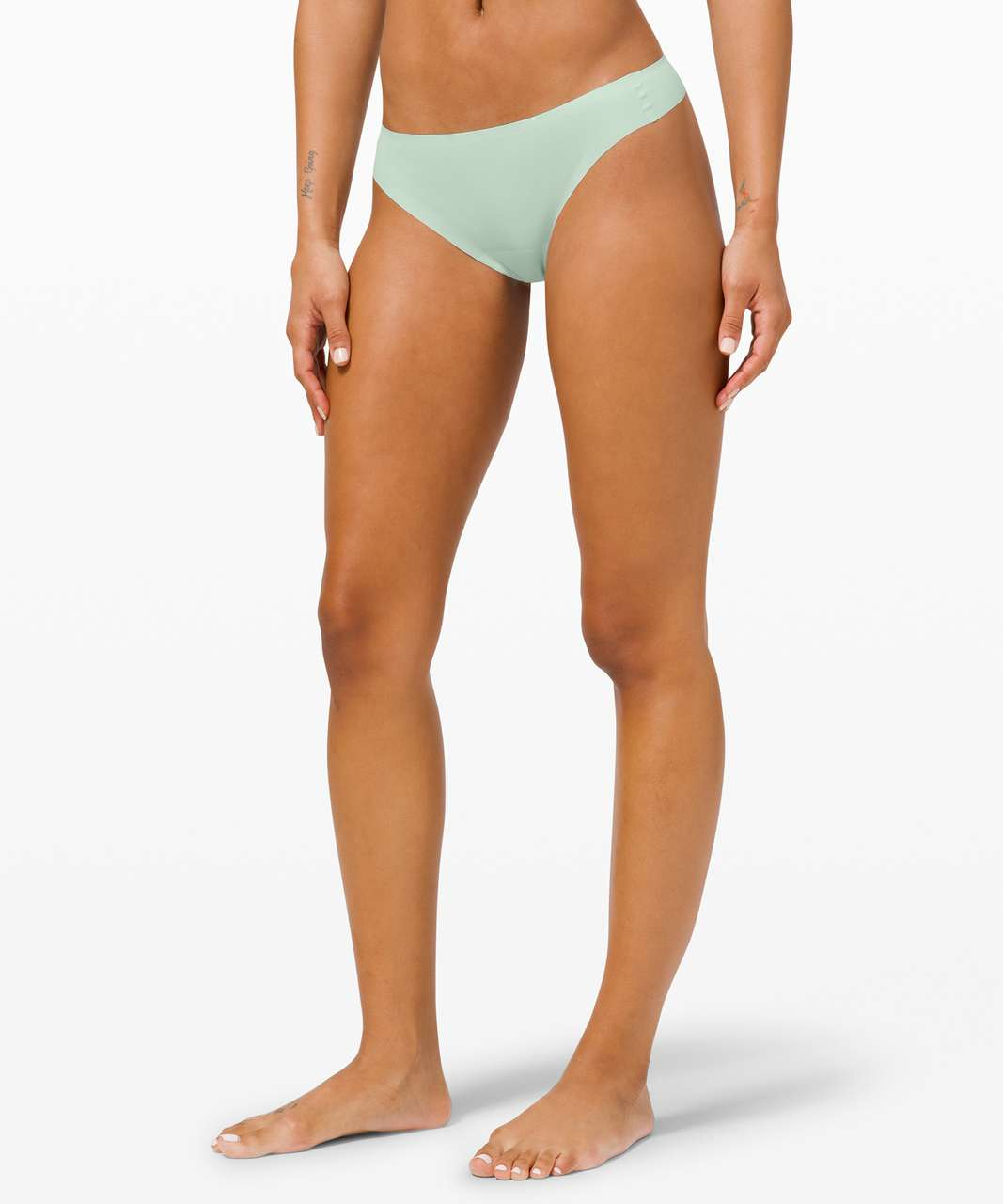 Lululemon Smooth Seamless Thong *3 Pack - Collage Camo Mini Serene Blue Multi Rotated 90 / Delicate Mint / Pink Pastel