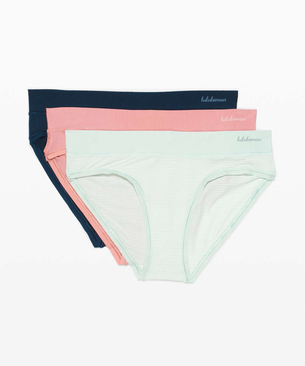 Lululemon Soft Breathable Bikini *3 Pack - Delicate Mint / Delicate Mint / Night Diver / Pink Pastel