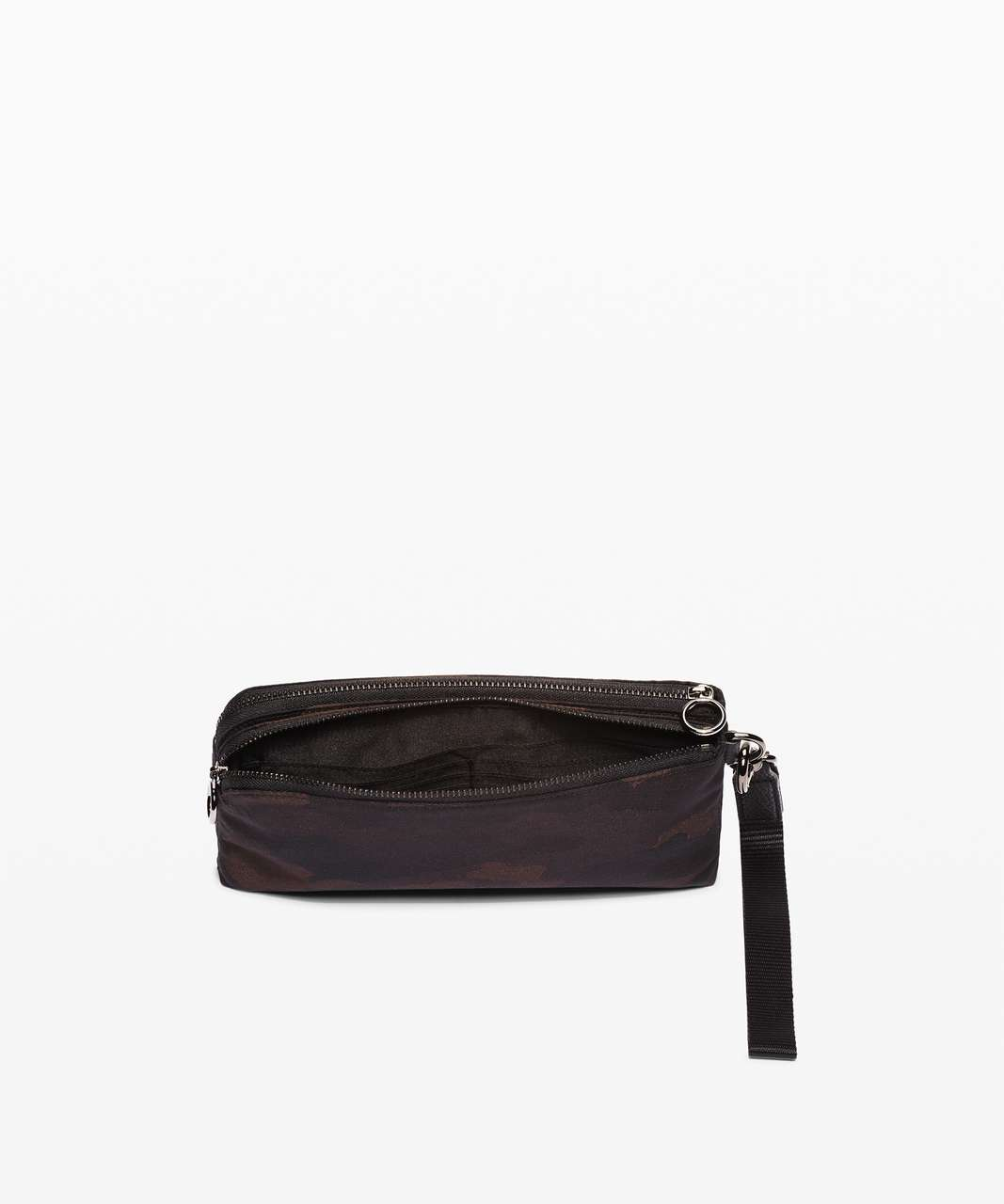 Lululemon Now and Always Pouch - Heritage Camo Jacquard Max Brown Earth Black / Black
