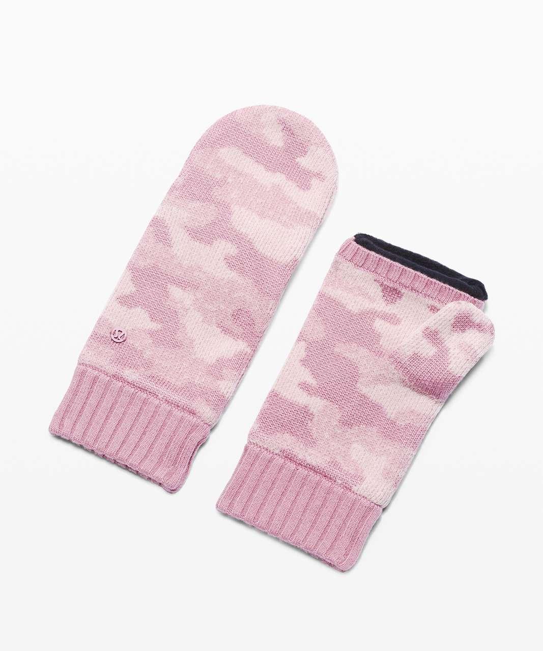 Lululemon Room for Warmth Mitten - Pink Taupe / Porcelain Pink