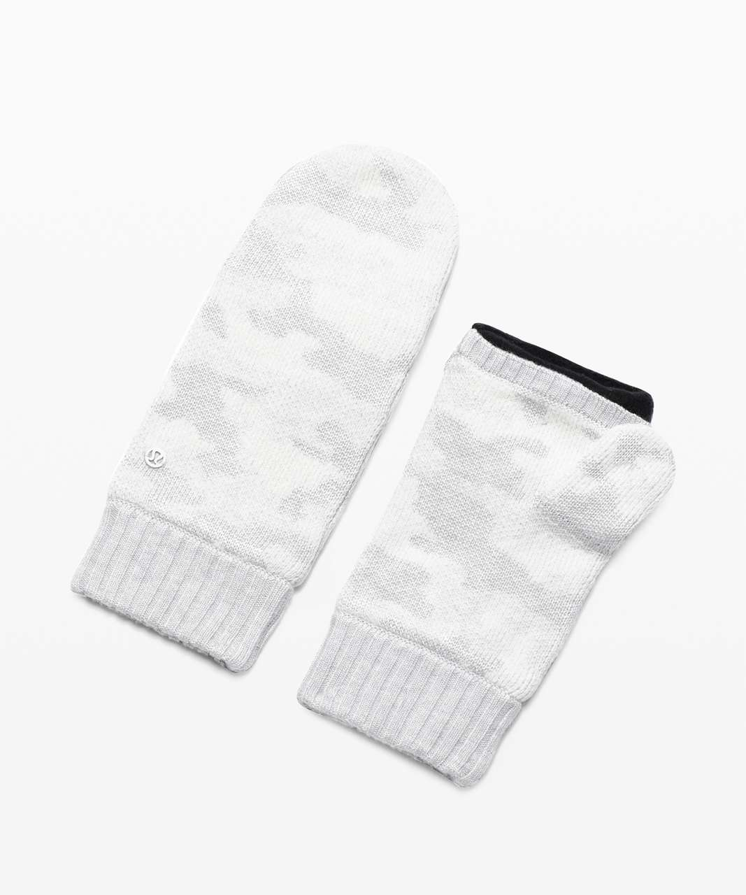 Lululemon Room for Warmth Mitten - Heathered Core Ultra Light Grey / Antique White