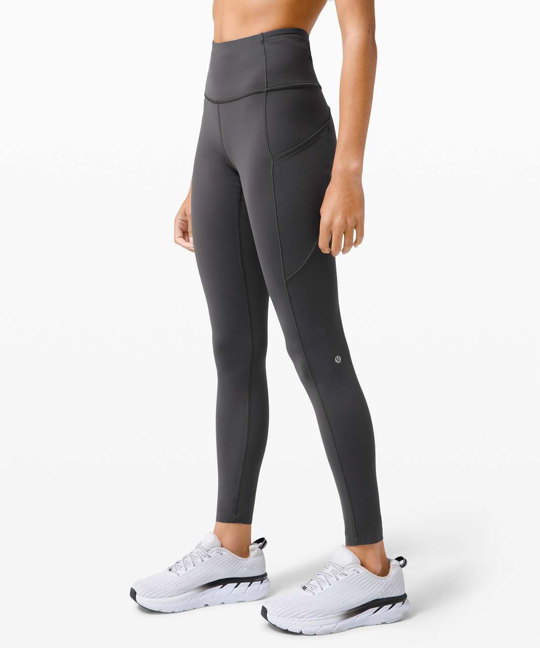 "Lululemon Fast and Free High-Rise Tight 28"" *Non-Reflective Brushed Nulux - Graphite Grey"