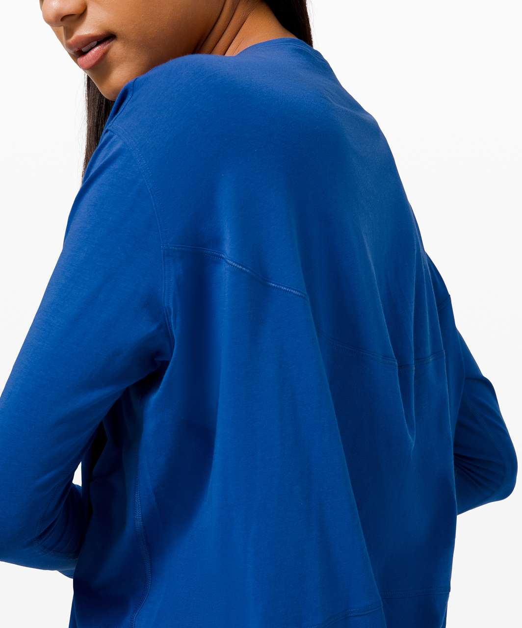 Lululemon Back In Action Long Sleeve - Regatta Blue