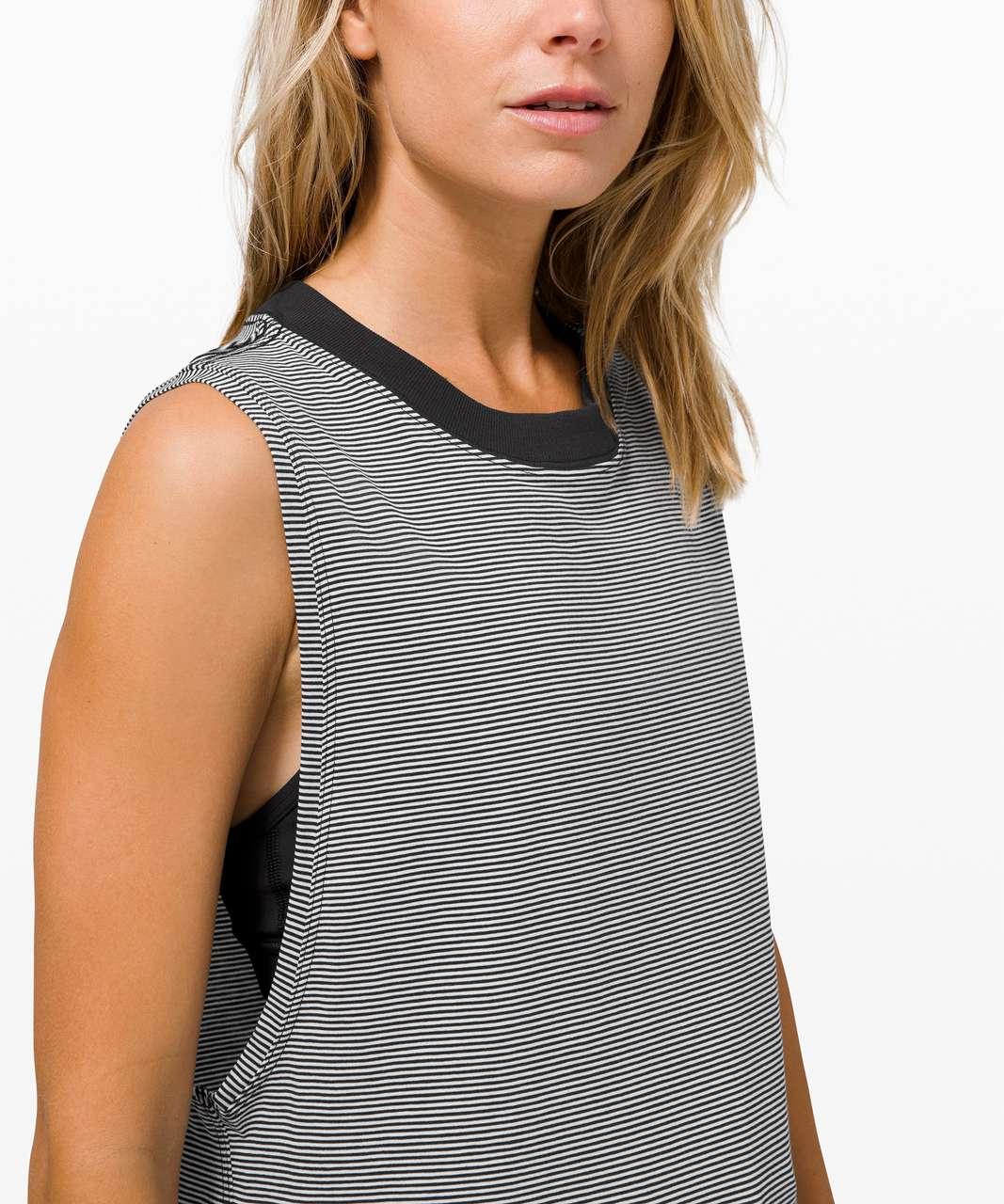 Lululemon All Yours Tank - Tonka Stripe Black White
