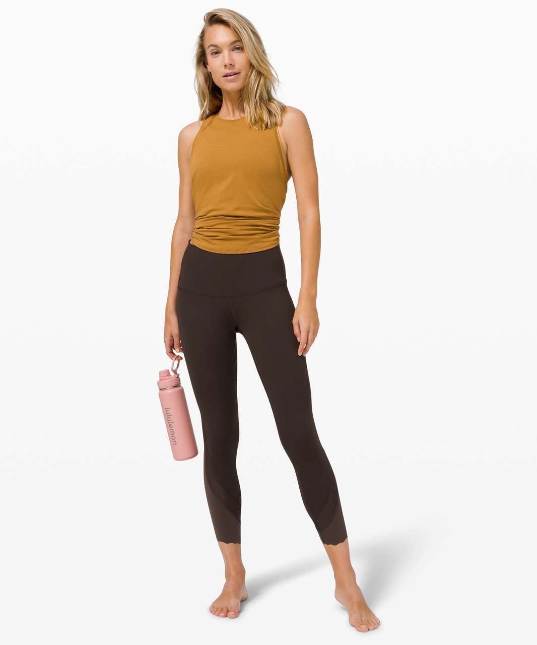 """Lululemon Wunder Under High-Rise Crop 23"""" *Updated Scallop Full-On Luxtreme - French Press"""