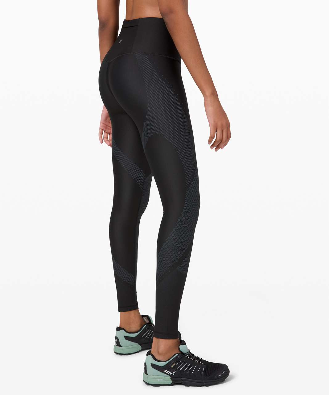 """Lululemon Mapped Out High-Rise Tight 28"""" - Black / Iron Blue"""
