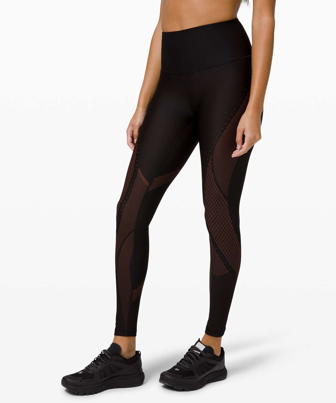 "Lululemon Mapped Out High-Rise Tight 28"" - Black / Ancient Copper"