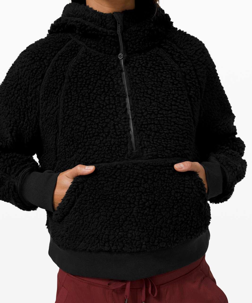 Lululemon Scuba Oversized Sherpa 1/2 Zip - Black