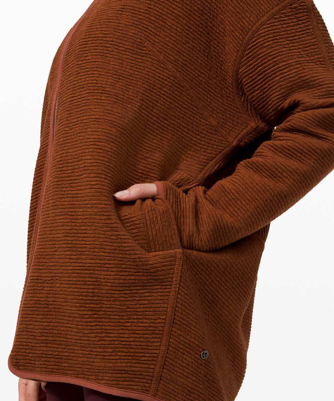 Lululemon Peaceful Moments Full Zip - Heathered Ancient Copper / Ancient Copper